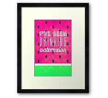 Drinking Watermelon Framed Print