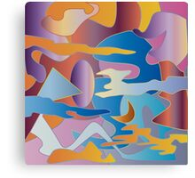 Abstract Colorful Sky Tones Dawn Sunset Daylight Evening Canvas Print