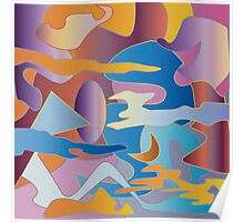 Abstract Colorful Sky Tones Dawn Sunset Daylight Evening Poster