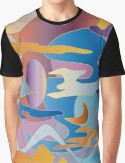 Abstract Colorful Sky Tones Dawn Sunset Daylight Evening Graphic T-Shirt