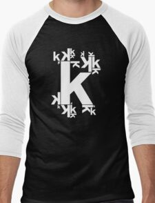 KAFKA (BLACK) Men's Baseball ¾ T-Shirt