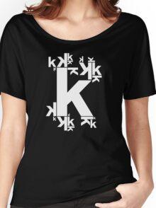 KAFKA (BLACK) Women's Relaxed Fit T-Shirt