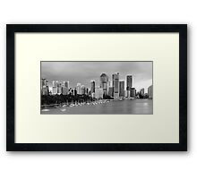 Brisbane CBD Taken from Kangaroo Point Framed Print