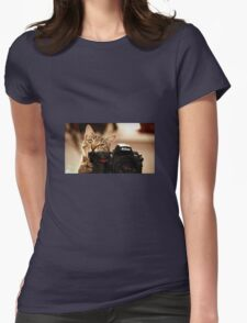 Cat Photographer Womens Fitted T-Shirt