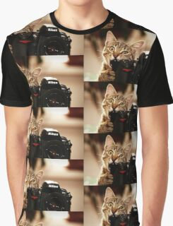Cat Photographer Graphic T-Shirt
