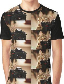 Cat Photographer Graphic T-Shirt