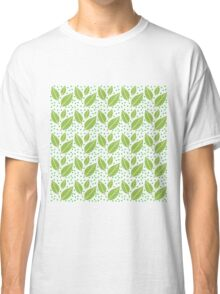 Green Leaf Patern Classic T-Shirt