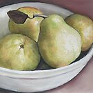 Pears in Bowl by Charlotte Yealey
