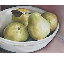 Pears in Bowl Photographic Print