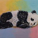 Baby Panda Rainbow by Michael Creese