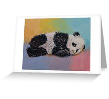 Baby Panda Rainbow Greeting Card