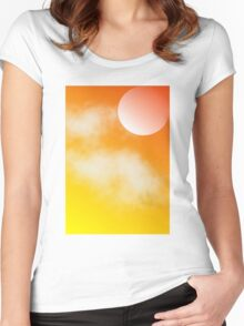 Moon at Sunset Women's Fitted Scoop T-Shirt