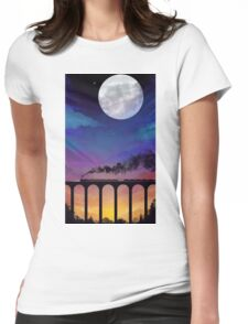 Twilight Train Womens Fitted T-Shirt