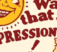 Oh Boy! Depression! Sticker