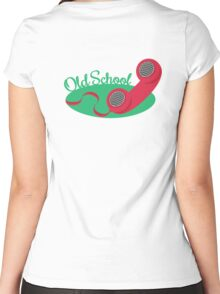 Old School Telephone Women's Fitted Scoop T-Shirt