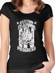 Sayian Training In Progress! Women's Fitted Scoop T-Shirt