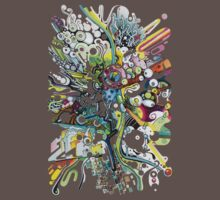 Tubes of Wonder - Abstract Watercolor + Pen Illustration Kids Clothes