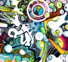 Tubes of Wonder - Abstract Watercolor + Pen Illustration Sticker