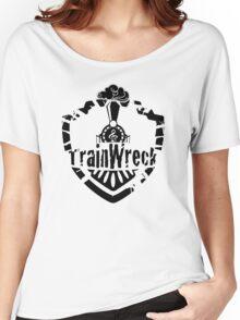 TrainWreck Full Logo - Black on White Women's Relaxed Fit T-Shirt