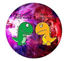 Dinosaur Love Quote Photographic Print
