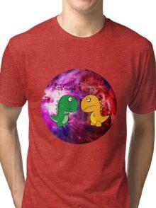 Dinosaur Love Quote Tri-blend T-Shirt