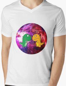 Dinosaur Love Quote Mens V-Neck T-Shirt