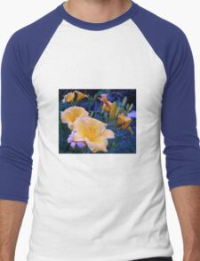 Bright yellow Lilies in Radiant blue green grass T-Shirt