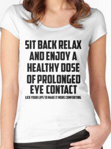 Bo Burnham - Prolonged Eye Contact, 2.0 Women's Fitted Scoop T-Shirt