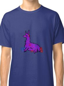 Llama with flowers Classic T-Shirt