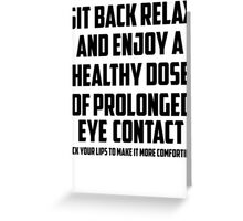 Bo Burnham - Prolonged Eye Contact, 2.0 Greeting Card