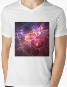 Night at Wonderland - Abstract Fractal Artwork Mens V-Neck T-Shirt
