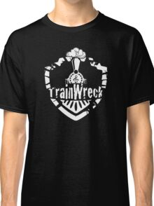 TrainWreck Full Logo White on Black Classic T-Shirt