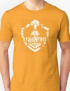 TrainWreck Full Logo White on Black T-Shirt