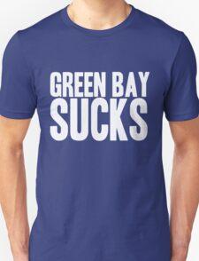 Detroit Lions - Green Bay Sucks - White Text T-Shirt