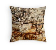 Tapestry in Bark Throw Pillow
