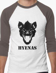 Hyenas (black) Men's Baseball ¾ T-Shirt