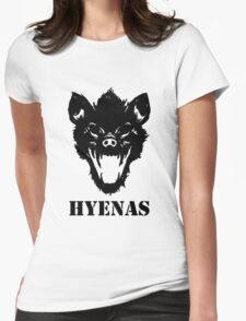 Hyenas (black) Womens Fitted T-Shirt