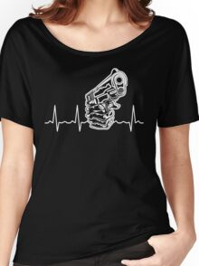 Heart beat Gun Women's Relaxed Fit T-Shirt