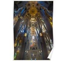 Inside the Sagrada Familia Poster