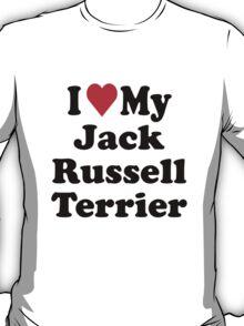 I Heart Love My Jack Russell Terrier T-Shirt