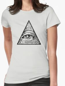 Eye of Providence Black Womens Fitted T-Shirt