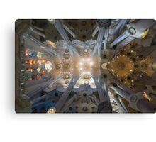 Sagrada Familia Ceiling Canvas Print