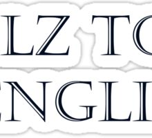 Stolz to be DENGLISH (dark) Sticker