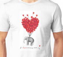 cute Love Carries All Elephant Unisex T-Shirt