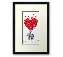 cute Love Carries All Elephant Framed Print
