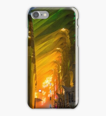 Rainbow Glass, sagrada Familia iPhone Case/Skin