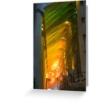 Rainbow Glass, sagrada Familia Greeting Card
