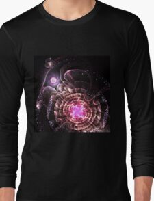 Center of the Universe - Abstract Fractal Artwork Long Sleeve T-Shirt