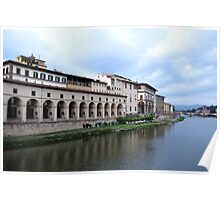 Banks of River Arno Poster