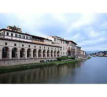 Banks of River Arno Photographic Print